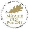 Médaille d'or au concours général agricole à Paris